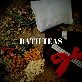 Bath Teas - a classic apothecary preparation for an easy and mess-free bath soak!