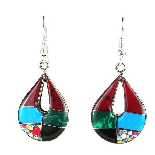 Teardrop Mosaic Earrings (Mexico)