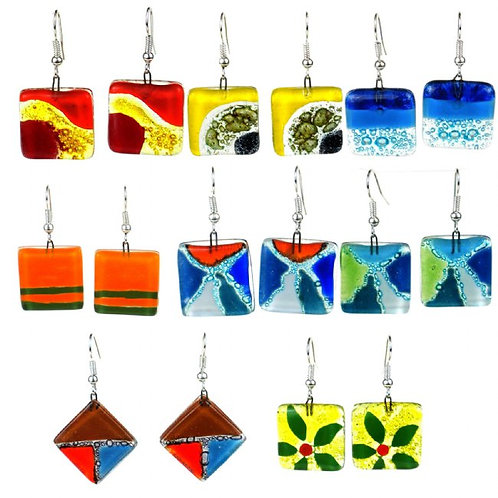 Square Glass Earrings (Chile)
