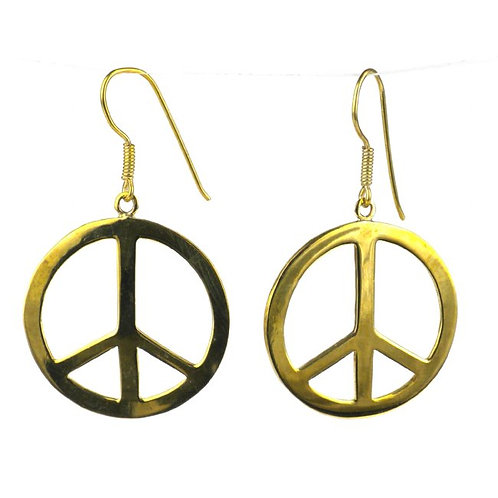 Golden Peace Earrings (Cambodia)