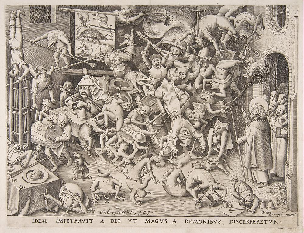 Print by Pieter van der Heyden 1565.