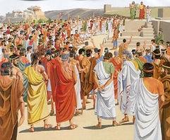 L'agora Athènienne est le lieu où les citoyens décidaient des lois