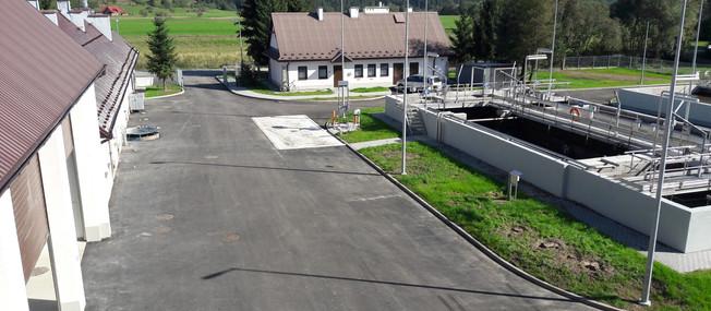 Oczyszczalnia ścieków w Łopusznej  po rozbudowie i modernizacji
