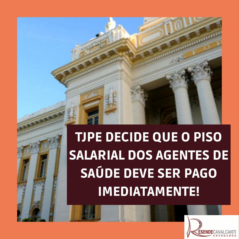 TJPE decide que o piso salarial dos agentes de saúde deve ser pago imediatamente.