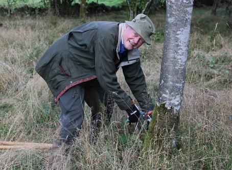 Naturvårdsarbete i Vannaröds ängskrona