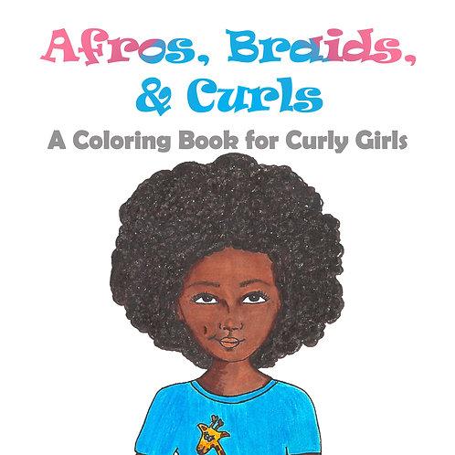 Coloring Book - Afros, Braids, & Curls