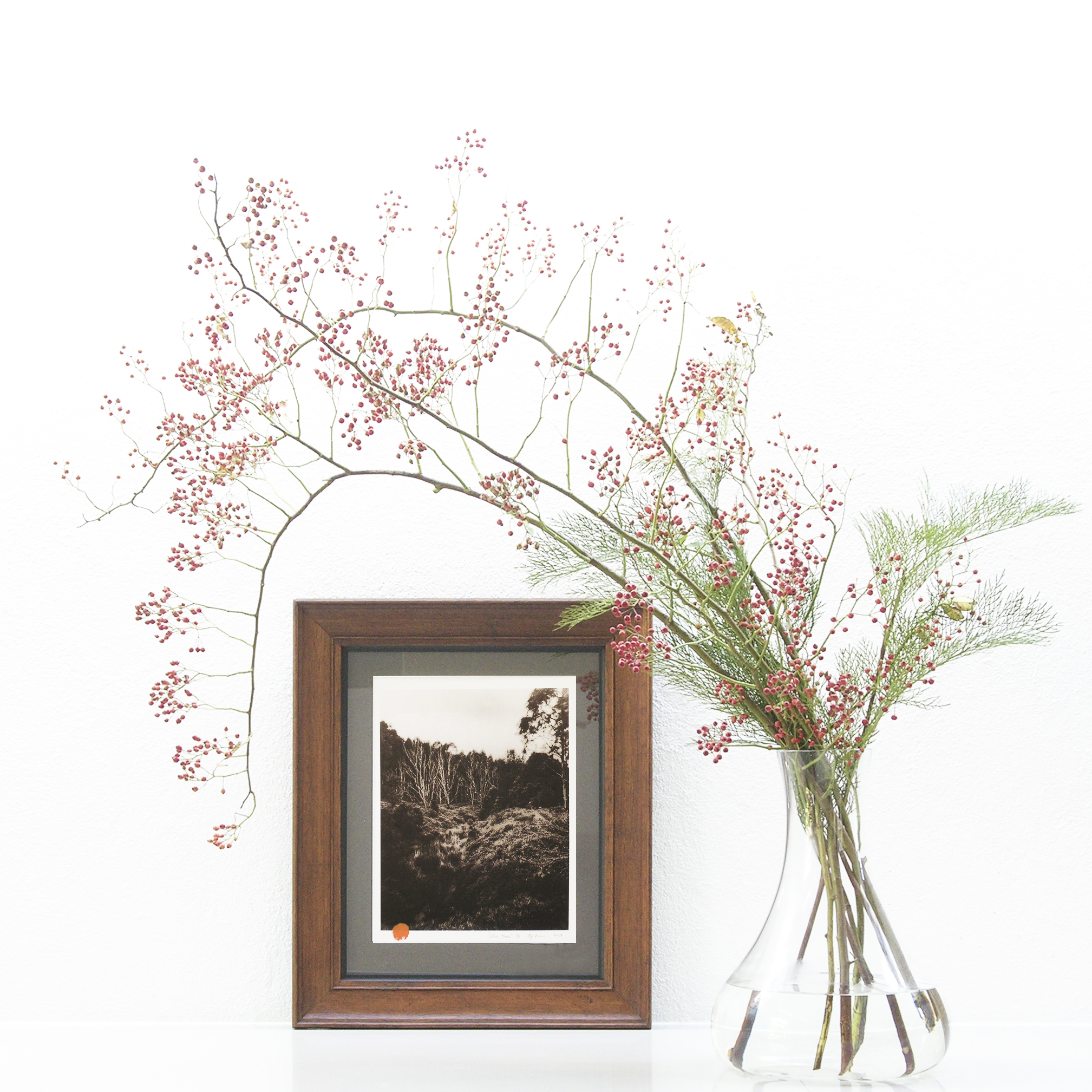 Silver Trees - Antique Frame