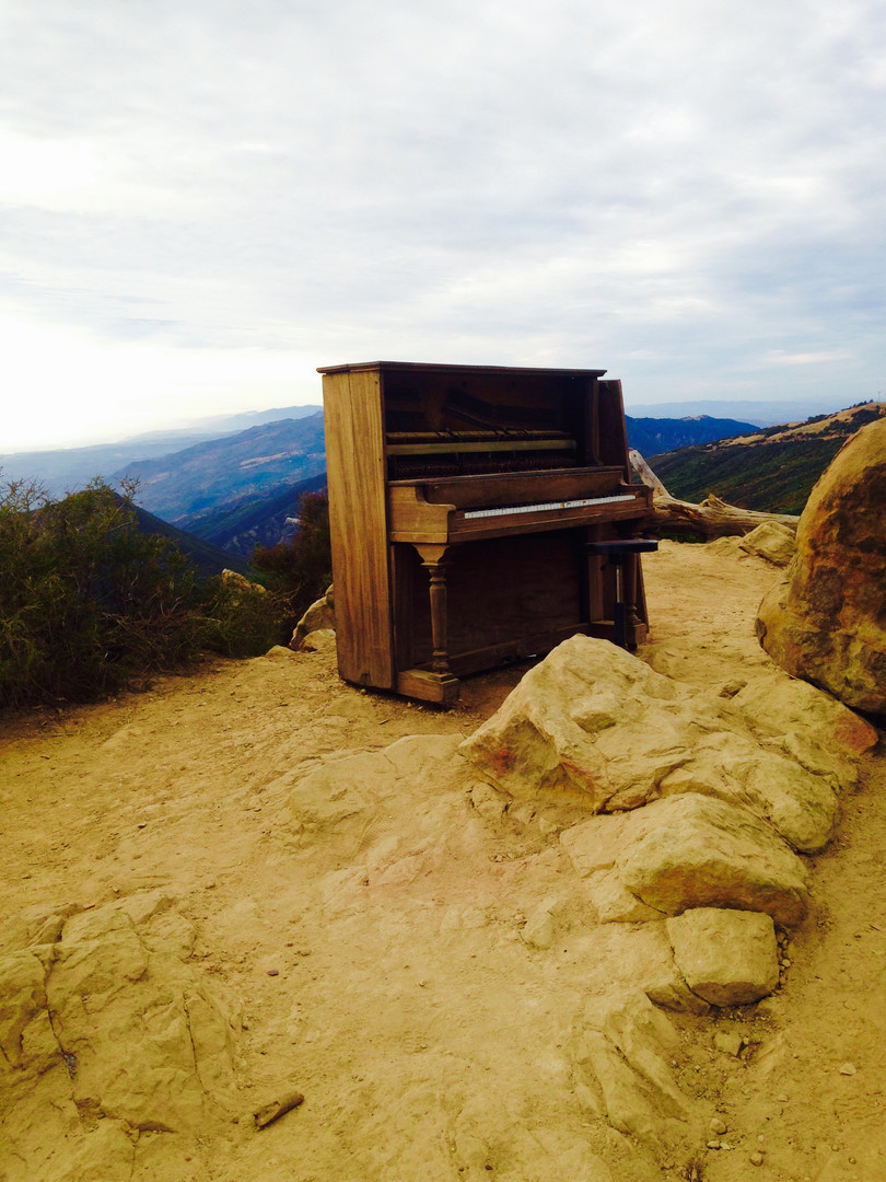 Piano at La Cumbre Peak