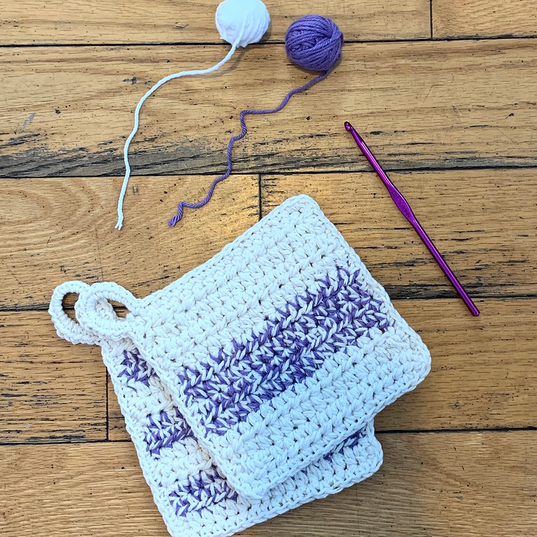 Learn to Crochet with Hilary Poff (Three Sessions)