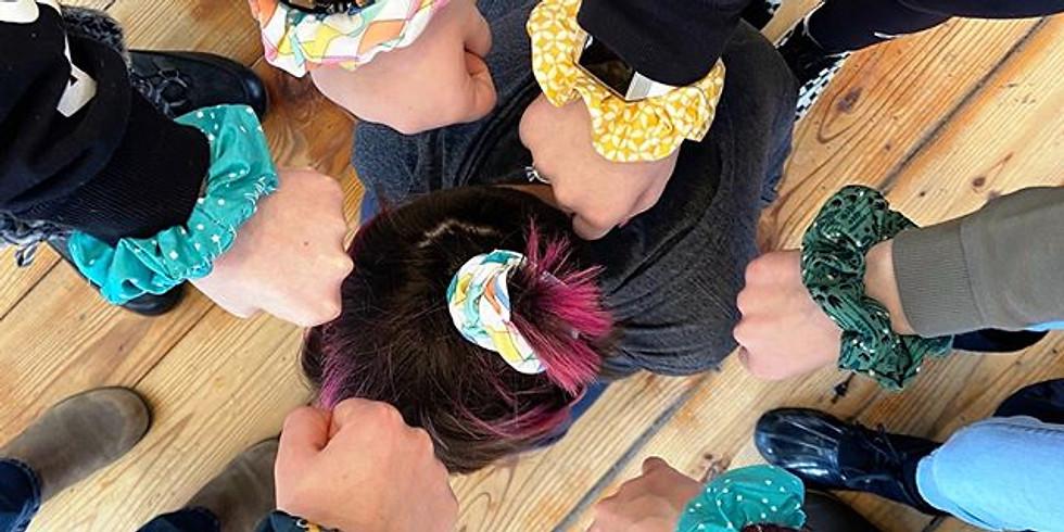 Teens Learn Machine Sewing: Scrunchies!