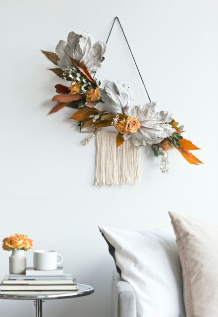Boho autumn decor, DIY boho autumn crafts