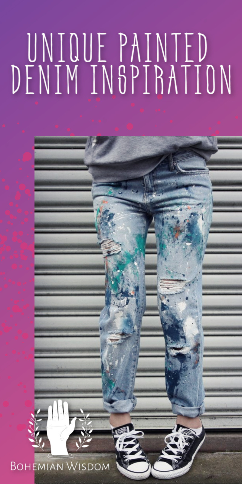 DIY Painted blue jeans. DIY painted denim jacket. Hand Painted jeans. Hand Painted denim. Painted jeans mens. Painted jeans pockets. Painted jeans ideas. Sunflower painted jeans. Floral painted jeans.