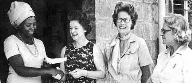 Mrs Rita Sant Presents Cheque