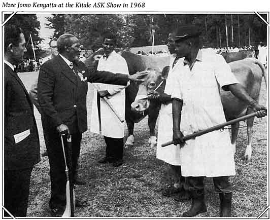 Mzee Jomo Kenyatta (First President of Kenya) at the Kitale ASK show