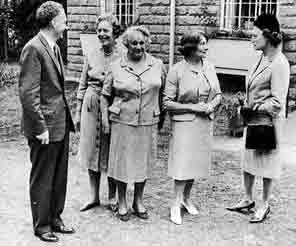 Opening of Weal House Flats - Mrs Anderson seconf from the right