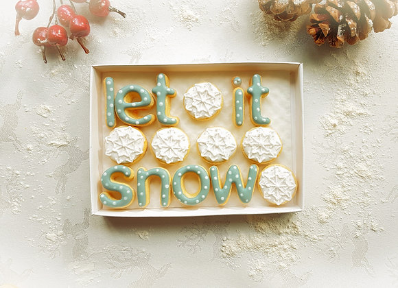 let it snow - say it with cookies at christmas