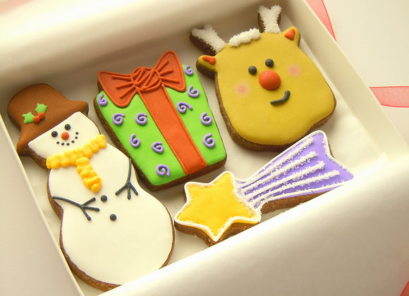 Rudolph and Snowman cookies