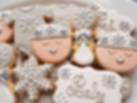 hand decorated baby shower biscuits