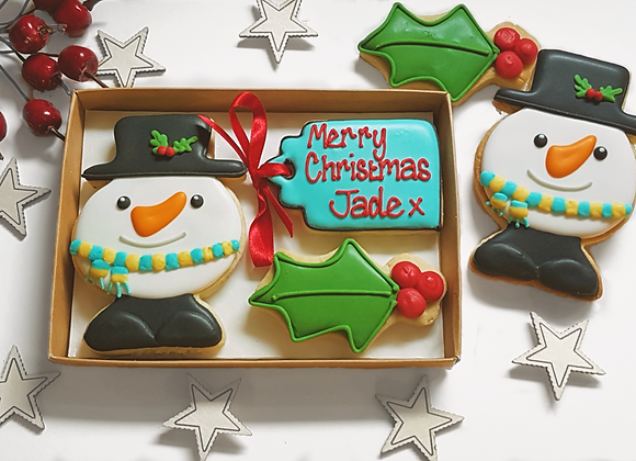 personalised frosty snowman gift box