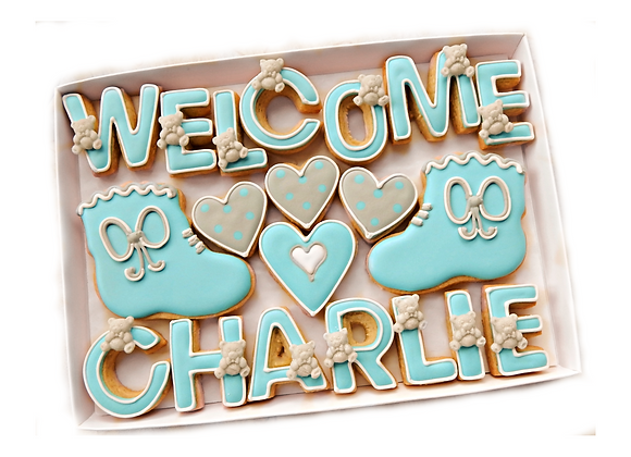 'say it with cookies!' - new baby welcome, personalised