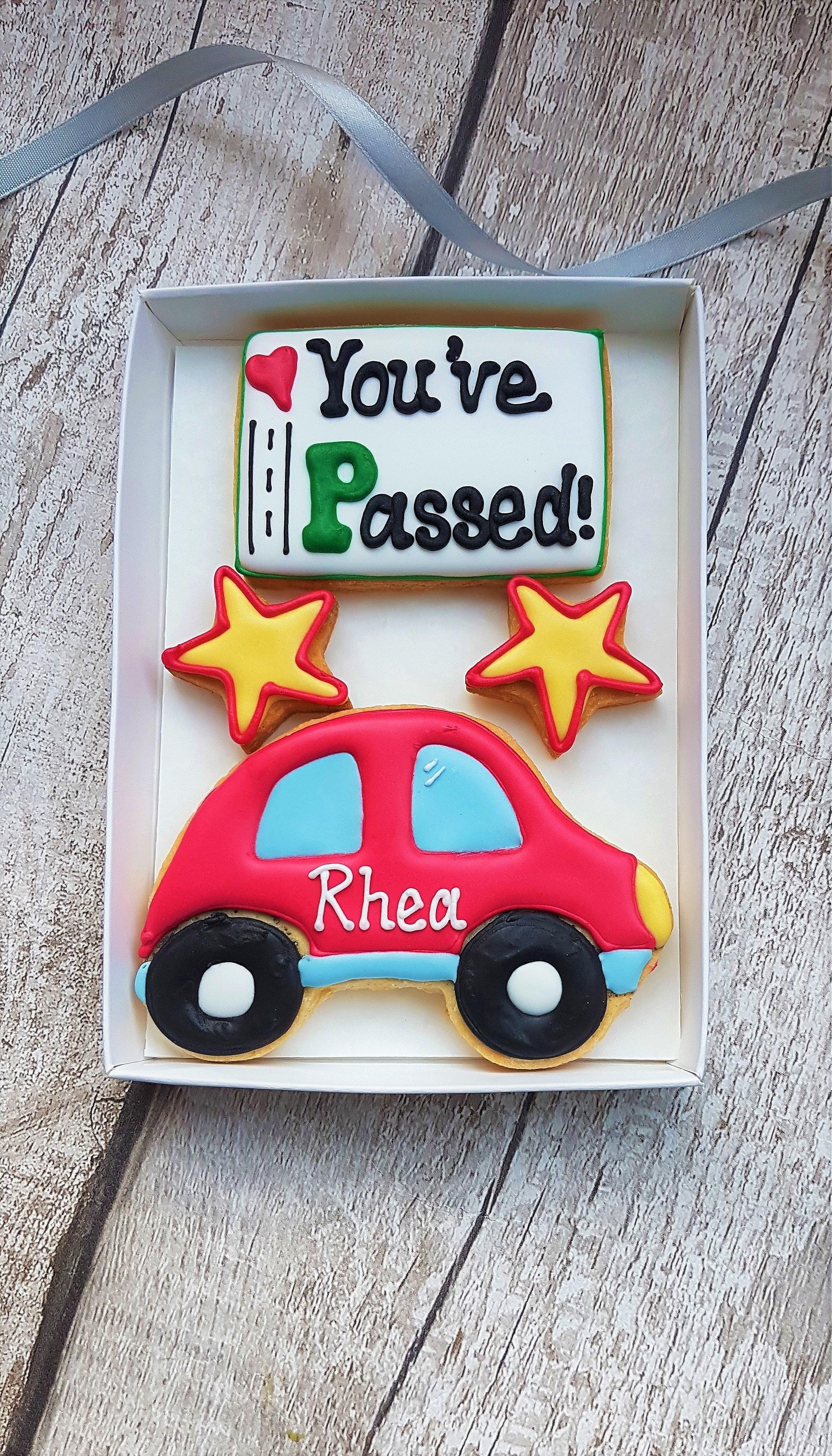 Personalised 'You've passed!' cookies