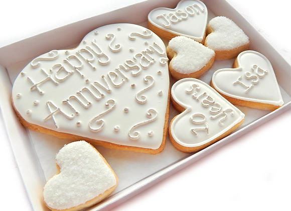 anniversary cookies (personalised & customised)