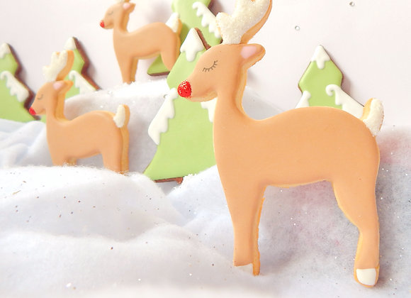 personalised rudolph cookies