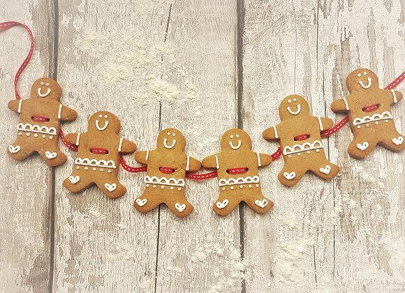 Gingerbread man garland