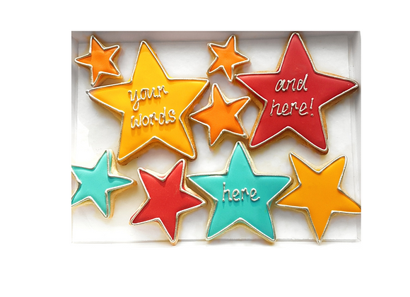 personalised shining star cookies