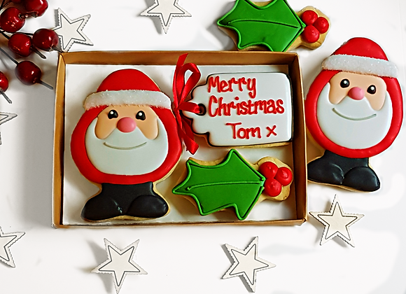 personalised father christmas gift box