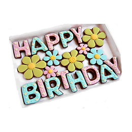 'say it with cookies! - floral happy birthday