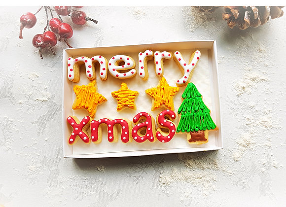 merry xmas - say it with cookies at christmas