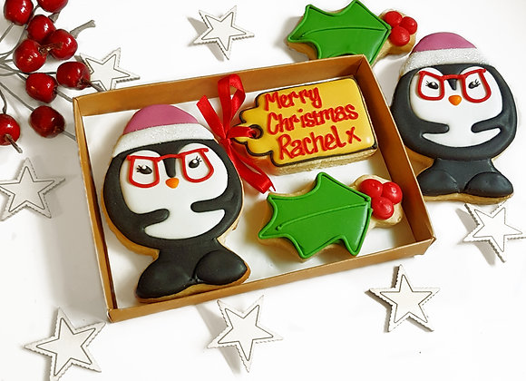 personalised lady pengy cookie  gift box