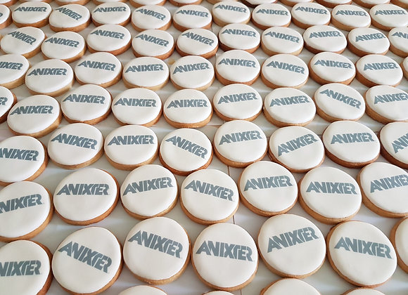 round logo cookies with eco self sealed bag - min. order x 10