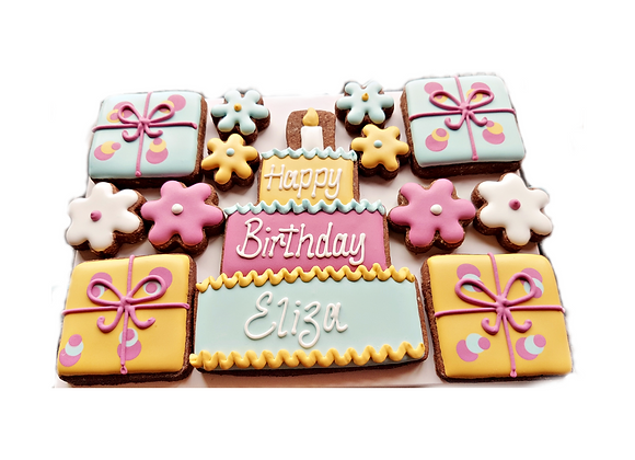 personalised birthday cookies - for her