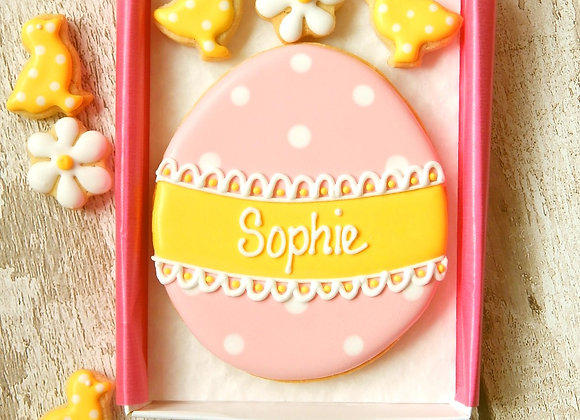 polka dot easter egg - personalised