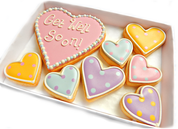 polka dot heart cookies - personalised