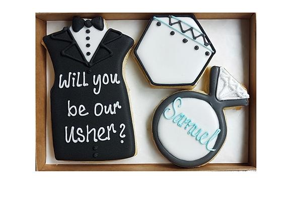 personalised best man/usher/ring bearer/groomsmen/page boy proposal