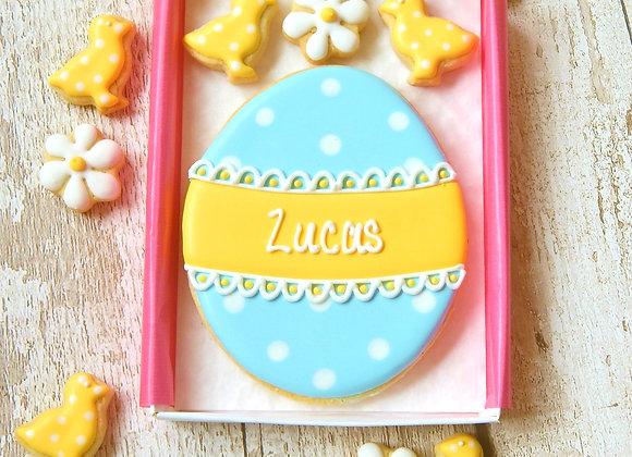 polka dot easter egg - personalised