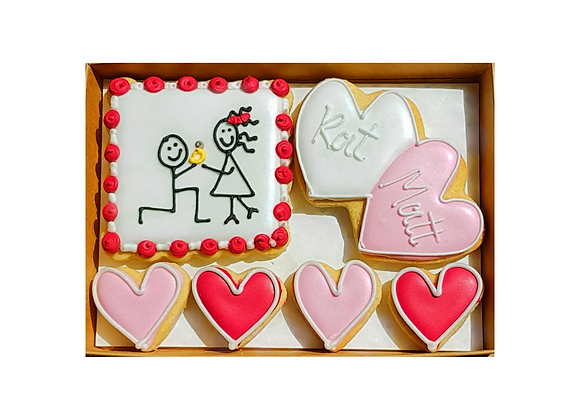 stickman engagement cookies  - personalised
