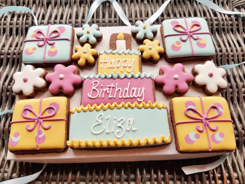 Personalised Cookie Birthday Gift Box Handmade Cookies Delivered Thoughout UK