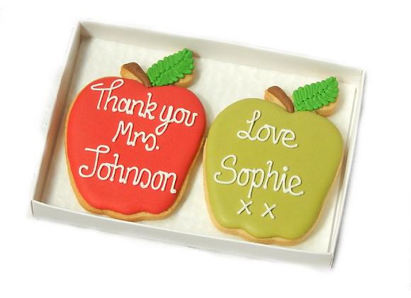 personalised apple cookie duo