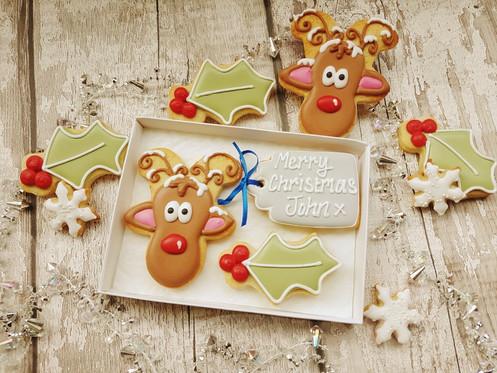 Personalised Rudolph Cookies