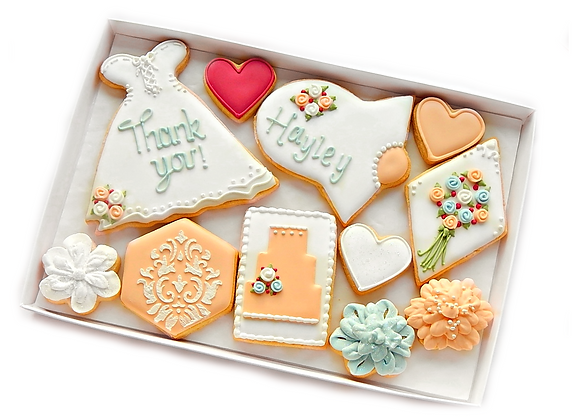 bridal cookies - personalised