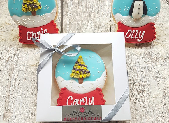 Personalised Snow Globe gift box