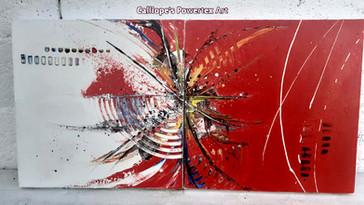 """""""Δύο Σε Ένα""""   Abstract Ζωγραφική σε Καμβάδες   Calliope's Powertex Art"""