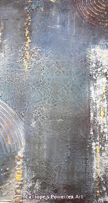 """""""Νύχτα""""   Abstract Ζωγραφική Σε Καμβά   Calliope's Powertex Art"""