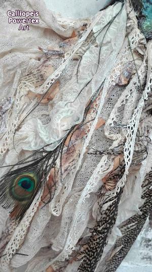 """""""Παγώνι""""   Επιτοίχιο Μπούστο σε Καμβά με Powertex   Calliope's Powertex Art"""