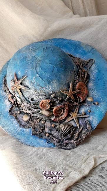 Διακοσμητικό Χειροποίητο Καπέλο με Powertex | Calliope's Powetex Art
