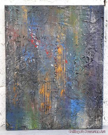 """""""Γιορτή""""   Abstract Ζωγραφική Σε Καμβά   Calliope's Powertex Art"""